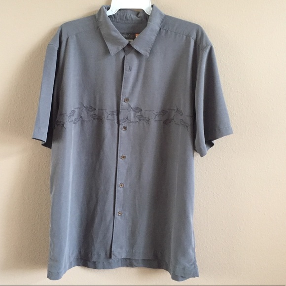 Popular Brand Quiksilver Mens Waterman Collection Grey Striped Polo Shirt Size M Euc Men's Clothing Shirts